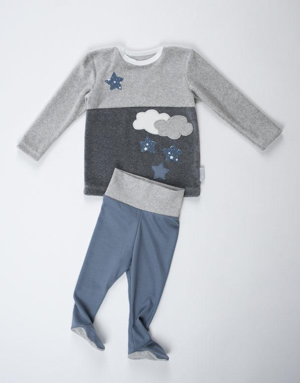 comprare popolare 9cf1f d50a0 Pigiama ciniglia - pantalone con piede (Bambino) | Skikkerli